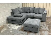 BRAND NEW DYLAN JUMBO CORD CORNER OR 3+2 SEATER SOFA SET AVAILABLE IN STOCK IN MANY COLORS ORDER NOW