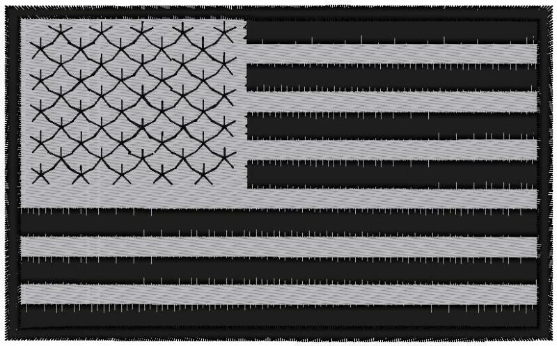 REFLECTIVE CUSTOM EMBROIDERED AMERICAN  FLAG