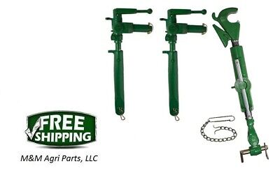 3 Point Hitch Top Link Adjustable Uprights - John Deere 720 730 Tractor