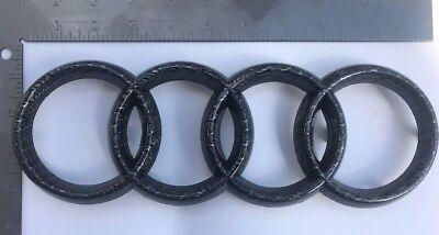 06 12 AUDI Carbon Fiber FRONT GRILL 4 RINGS Emblem A3 A5 A4 A6 A8 1075 US New