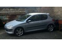 Peugeot 206 1.4L fever mot till end of july punto polo golf astra corsa