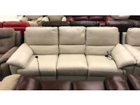 Leather recliner 3 and 2 seater sofas