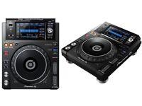 2x PIoneer DJ XDJ 1000 MK2
