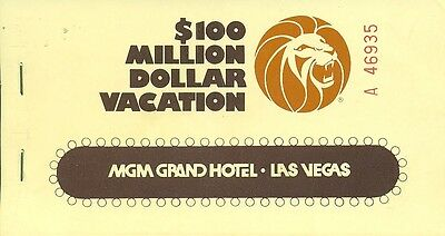 1977 Vintage MGM Grand Hotel-Los Vegas-Coupon Booklet-LOT A