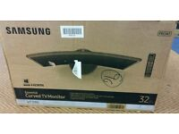 """Samsung 32"""" LED curved tv and monitor built in HD freeview USB"""