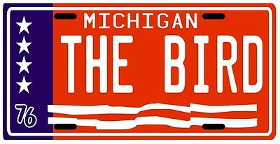Mark The Bird Fidrych Detroit Tigers 1976 License plate