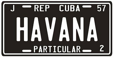 Cuba pre-revolution 1957 Havana replica metal License plate