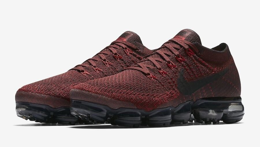 Nike Air Max VaporMax Flyknit Deep Red Dark Team Red 849558-601 Day to Night