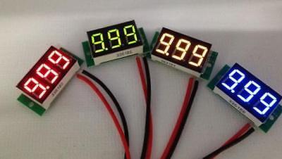 0.36 Dc Digital Voltmeter Panel Mount Led Voltage Volt Meter Green 2.6030v