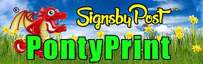 Ponty Print's Signs by post
