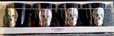 en RAVENSHEAD MANOR SHOT GLASSES 4ct - SKULL (Manor Halloween)