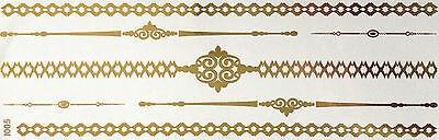 sh Tattoo Classic Gold 7teile Armband Hals Kette Fuß Ring I5 (Hals Tattoos)