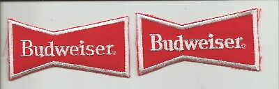 """Pair of  Budweiser """"bowtie"""" patches"""