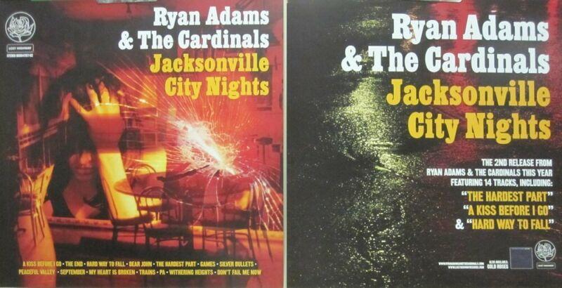 Ryan Adams 2005 Jax City Nights 2 Sided promo poster/flat Flawless New Old Stock