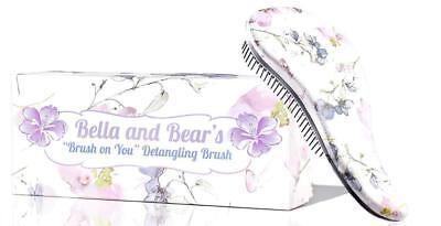 Bella and Bear Detangling Hair Brush (Spring) the Best Detangler for Wet