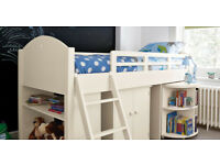 Feather & Black - Noah Midsleeper bed and pull out desk - MINT CONDITION