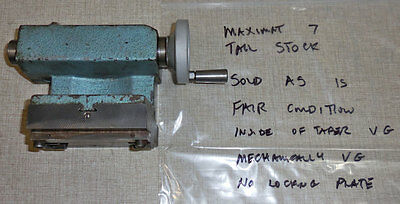 Emco Maximat 7 Lathe Mt2 Tailstock Tail Stock Inch Based 2  0304