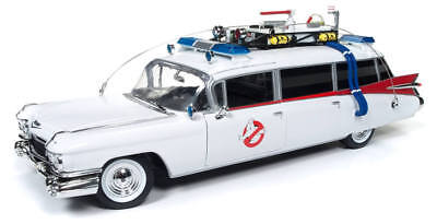 (Auto World 1/18 1959 Cadillac Ambulance Ghostbusters Ecto-1 Die-Cast AWSS118)
