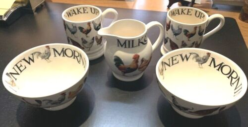 "New Emma Bridgewater 5 Piece ""Hen"" Design Pottery Set - Brand New"