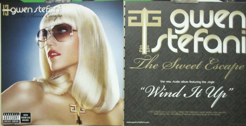 Gwen Stefani 2006 Sweet Escape 2 Sided promo poster/flat Flawless New Old Stock