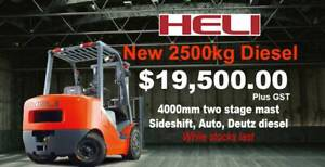 NEW Heli 2500kg diesel forklift SALE. Huge discounts. Malaga Swan Area Preview