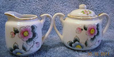 Vintage Miniature Sugar Bowl w/Lid & Cream ...