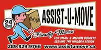 Assist-U-Move Affordable Movers with a hard working crew!