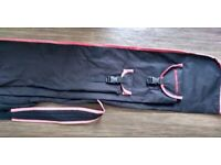 Fishing Rod Holdall, Progress, 5 foot 10 inches, Black with red piping. £5, Bargain.
