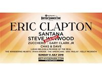 Eric Clapton & Santana (General Admission) x 4 Tickets x BST x July 8th