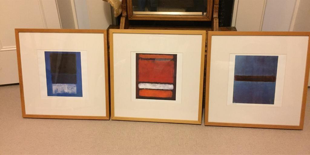 Trio Of Mark Rothko Wooden Ikea Ribba Framed Prints