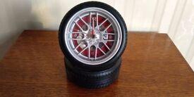 New Car Tyre Alloy Wheel Alarm Clock