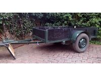 6 x 3 trailer, handy for gardening, dump run, logs or camping, freshly painted but cheap to clear