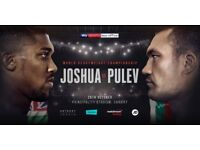 x2 Anthony Joshua v Kubrat Pulev Tickets - Block L34 - Price for Both