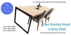 1.8m Lime Washed Dining table - new must clear warehouse Stanmore Marrickville Area Preview
