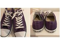 *BARGAIN* SIZE 10 MENS / WOMENS PURPLE CONVERSE £10