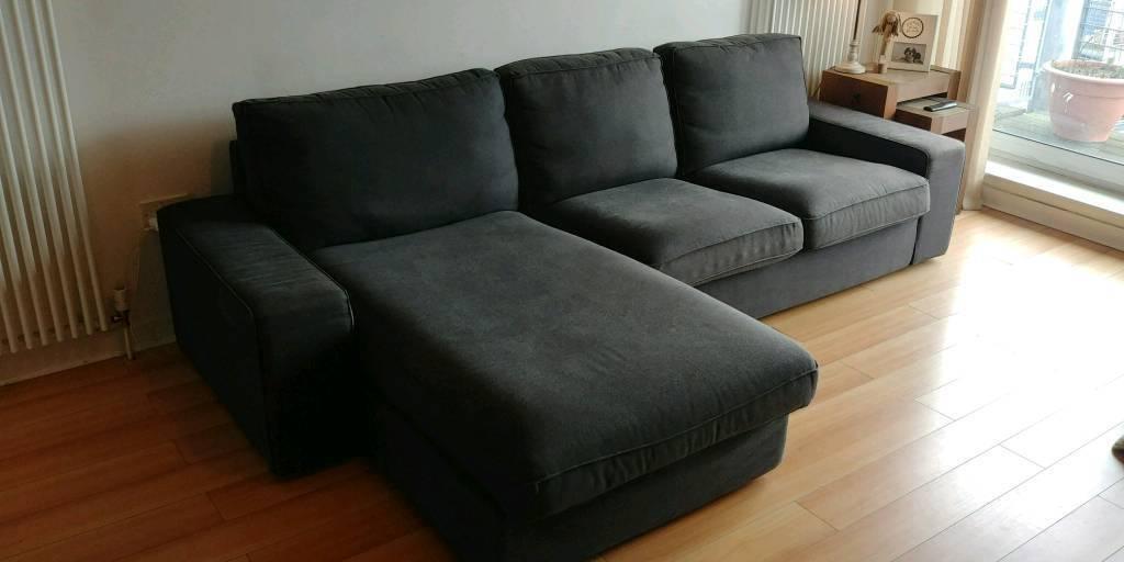 Ikea 3 Seat Sofa Kivik With Chaise Longue Hillared