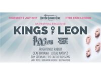 KINGS OF LEON at British Summer Time on July 6th