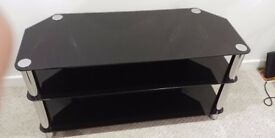 Gloss Black 3 shelf TV stand