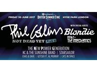 2 priority entry tickets for sale: Phil Collins plus Special Guests, Hyde Park, 30 June 2017