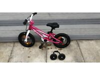 Specialized hotrock 12 bike (pink), optional stabilisers included, very good condition
