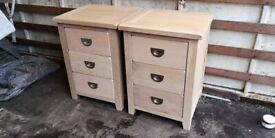 Barker & Stonehouse Pair Of Bedside Drawers Solid Oak wood (Delivery Available)