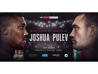 6 x Premium Middle Section Tickets (M12) - Anthony Joshua vs Kubrat Pulev, Cardiff 28th October