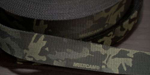 """45mm - 1.75"""" Type 13 Double Sided Crye Multicam Black Webbing ( 7000lbs strength"""