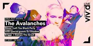 The Avalanches - Sydney Opera House - Below Face Value $100 each Birchgrove Leichhardt Area Preview