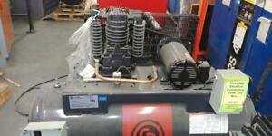New Chicago Pneumatic 5hp 460v 3ph 80g Horizontal piston compressor - IN STOCK!!!