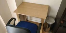 Tan coloured desk
