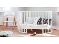 Stokke Sleepi Cot Bed in White with Mattress and More