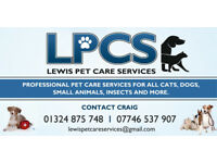 Lewis Pet Care Services providing top quality professional pet care