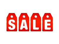 All items for sale reduced, big clearance