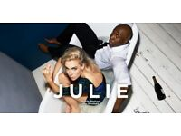 2 x tickets to Julie at National Theatre, Friday 22nd June 2018 (starring Vanessa Kirby)